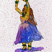 Hula Series Melika Art Print