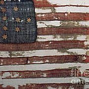 Hulbert Flag Early Us Flag 1776 Art Print by Photo Researchers