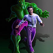 Hulk - Bruce Alter Ego Art Print