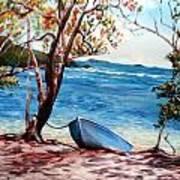 Hull Bay Boat Art Print