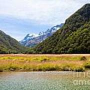 Humboldt Mountains Seen From Routeburn Track Nz Art Print