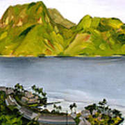 Humid Day In Pago Pago Art Print