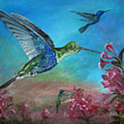 Hummers For A Friend Art Print