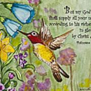 Humming Bird- Philipians Art Print
