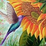 Humming For Nectar Art Print