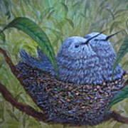 Hummingbird Babies Art Print