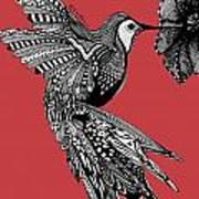 Hummingbird Flight 15 Art Print