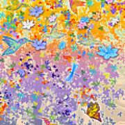 Hummingbird Spring Art Print