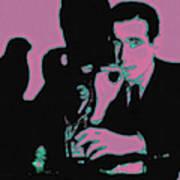 Humphrey Bogart And The Maltese Falcon 20130323m138 Square Art Print
