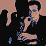 Humphrey Bogart And The Maltese Falcon 20130323m88 Square Art Print by Wingsdomain Art and Photography