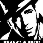 Humphrey Bogart Black And White Pop Art Art Print