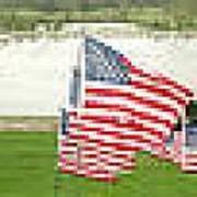 Hundreds Of American Flags September 11 Memorial In Saint Louis Missouri Art Print