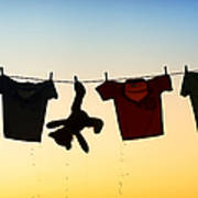 Hung Out To Dry Art Print by Tim Gainey