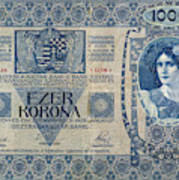 Hungary Banknote, 1902 Art Print