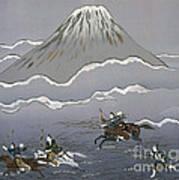 Hunt At Mount Fuji Art Print