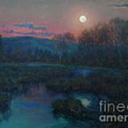 Hunter's Moon Rising Art Print