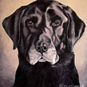 Hunting Buddy Black Lab Art Print