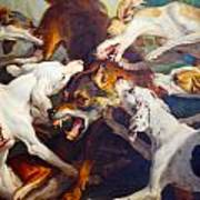 Hunting Dogs Detail 2 Art Print