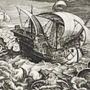 Hunting Sea Creatures Art Print
