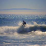 Huntington Beach California Surfer Art Print