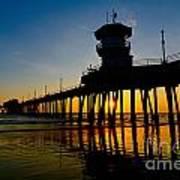 Huntington Beach Pier At Sunset Art Print