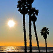 Huntington Beach Sunset Art Print