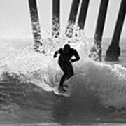 Huntington Beach Surfer Art Print