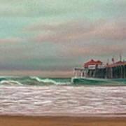 Huntington Beach Morning Art Print