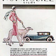 Hupmobile  1926 1920s Usa Cc Cars Dogs Art Print by The Advertising Archives