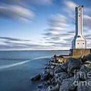 Huron Harbor Lighthouse Art Print