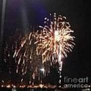 Huron Ohio Fireworks 2 Art Print by Jackie Bodnar