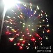 Huron Ohio Fireworks1 Art Print by Jackie Bodnar