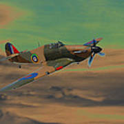 Hurricane Fighter Plane 2 Art Print