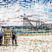 Hurricane Sandy First Responders Art Print by Jessica Cirz