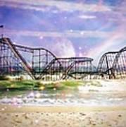 Hurricane Sandy Jetstar Roller Coaster Fantasy Art Print by Jessica Cirz