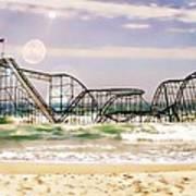 Hurricane Sandy Jetstar Roller Coaster Sun Glare Art Print