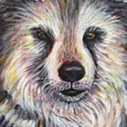 Husky Wolf Art Print
