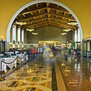Hussel And Bussel At The Union Train Station Los Angeles Ca Art Print