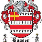 Hussey Coat Of Arms Irish Art Print