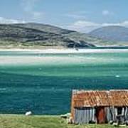 Hut On West Coast Of Isle Art Print by Rob Penn