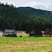 Huts In The Hills Art Print