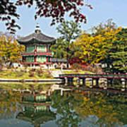 Hyangwonjeong Pavilion In Autumn Art Print