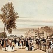 Hyde Park, Towards The Grosvenor Gate Art Print