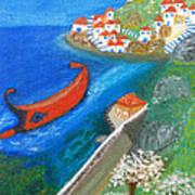 Hydra Island Art Print