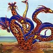 Hydra On Beach Art Print