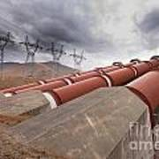 Hydroelectric Plant In Renewable Energy Concept Art Print