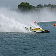 Hydroplane Gold Cup Race Art Print by Michael Rucker