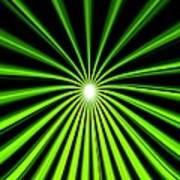 Hyperspace Electric Green Portrait Art Print