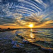 Hypnotic Sunset At Israel Art Print by Ron Shoshani