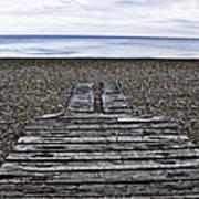 Hythe Beach Kent Art Print by Lesley Rigg